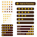 Set of rating buttons Royalty Free Stock Photography