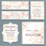Variety Wedding Invitation Card Elemets stock illustration