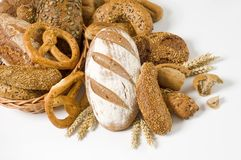Variety of whole wheat bread Royalty Free Stock Photography