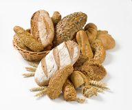 Variety of whole wheat bread Royalty Free Stock Images