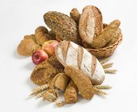 Variety of whole wheat bread Stock Photos