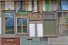 Variety of windows and doors. Image taken of random windows and doors taken in cornwall, uk stock image