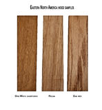 Variety of wood samples Stock Photography