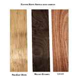 Variety of wood samples Royalty Free Stock Photography
