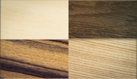 Variety wood textures Stock Images