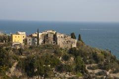Varigotti, Riviera italiana, Italia Imágenes de archivo libres de regalías