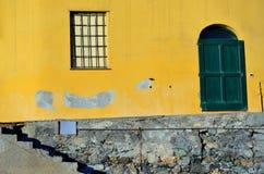 Varigotti windows, Italy Royalty Free Stock Photos
