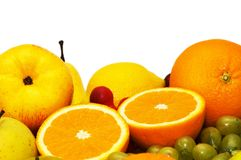 Variious fruits isolated Royalty Free Stock Images