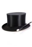 Varinha e chapéu mágicos imagens de stock