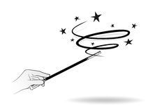 Varinha mágica ilustração royalty free