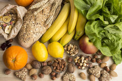 Vario alimento sano fotografie stock libere da diritti
