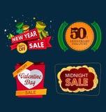 Vario apice di evento di vendita Immagini Stock