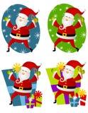 Vario arte de clip de Papá Noel 2 ilustración del vector