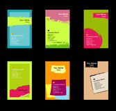 Vario conjunto de la tarjeta de visita Imágenes de archivo libres de regalías