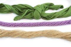 Vario delle corde e dei nodi Fotografia Stock