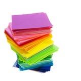 Vario documento di colore Fotografia Stock Libera da Diritti