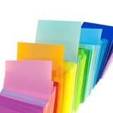 Vario documento di colore Immagini Stock Libere da Diritti