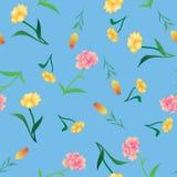 Vario fondo de las flores stock de ilustración