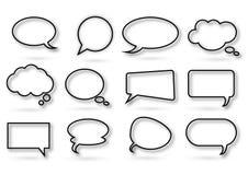 Vario genere di bolla di chiacchierata Fotografia Stock Libera da Diritti