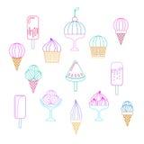 Vario helado libre illustration
