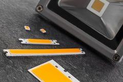 Vario LED scheggia per uso nei riflettori Fotografie Stock Libere da Diritti