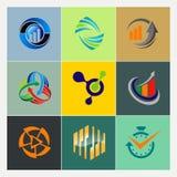 vario logos di finanza di affari Immagini Stock