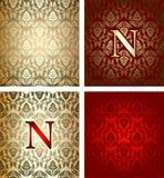 Vario ornamento del cerchio dell'oro rosso Immagine Stock