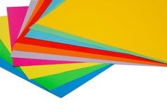 Vario papel del color fotografía de archivo libre de regalías