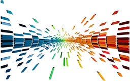 Vario pixel de los colores Foto de archivo libre de regalías