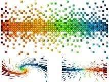 Vario pixel de los colores Fotografía de archivo libre de regalías
