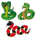 Vario serpente dell'accumulazione Illustrazione di Stock