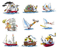 Vario ships_2 Foto de archivo