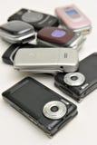 Vario tipo de teléfono celular fotografía de archivo libre de regalías