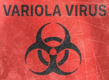 Variola virus, refer to biological substances that pose a threat to the health of living organisms, viruses. Variola Virus, sign indicating the presence of stock illustration