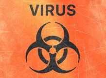 Virus, biohazards, refer to biological substances that pose a threat to the health of living organisms, viruses. Variola Virus, sign indicating the presence of royalty free illustration