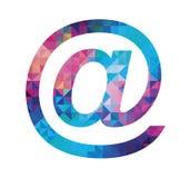 Variopinto all'icona del segno isolata su fondo bianco Illustrazione Immagini Stock Libere da Diritti