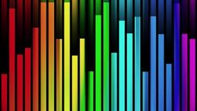 Variopinto animato dinamico dell'arcobaleno di colore del blocchetto del fondo di nuovo moto universale verticale commovente morb illustrazione vettoriale