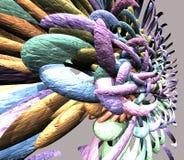 variopinto astratto 3D rende Fotografia Stock Libera da Diritti