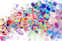 Variopinto astratto spruzza su fondo bianco Fotografie Stock