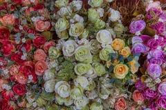 Variopinto dei fiori artificiali Fotografia Stock