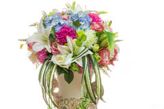 Variopinto dei fiori della plastica di varietà Immagini Stock Libere da Diritti