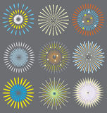 Variopinto dei fuochi d'artificio Fotografie Stock Libere da Diritti