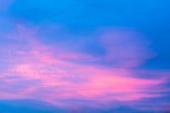 Variopinto del cielo con le nuvole Fotografia Stock