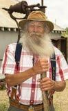 ` Variopinto del Oldtimer del ` al sito d'Alasca della chiatta Fotografia Stock Libera da Diritti