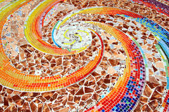 Variopinto del pavimento del fondo del mosaico Fotografie Stock