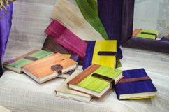 Variopinto del taccuino della fibra di Brown fatto dalla natura Immagine Stock