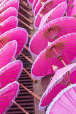 Variopinto dell'ombrello nel mercato di Chiang Mai Immagini Stock