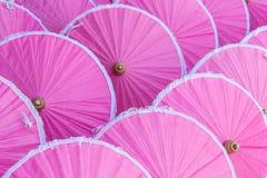 Variopinto dell'ombrello nel mercato di Chiang Mai Fotografia Stock