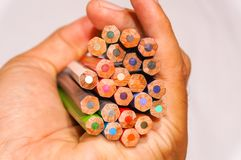 Variopinto della matita di colore Immagine Stock Libera da Diritti