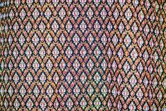 Variopinto della seta tailandese indigena di stile Tessuto di seta tailandese dei bei tessuti fatti a mano strutturato immagini stock